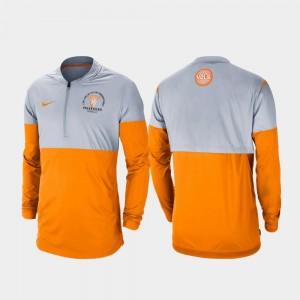 Tennessee Volunteers Jacket Men's Rivalry Gray Tennessee Orange Football Half-Zip