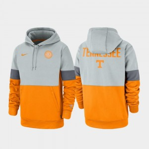 Tennessee Volunteers Hoodie Therma Performance Pullover Gray Tennessee Orange Rivalry Mens