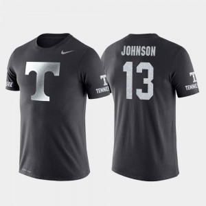 Tennessee Volunteers Jalen Johnson T-Shirt #13 Travel College Basketball Performance For Men Anthracite