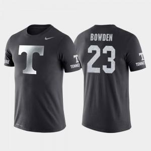 Tennessee Volunteers Jordan Bowden T-Shirt #23 College Basketball Performance Men Anthracite Travel