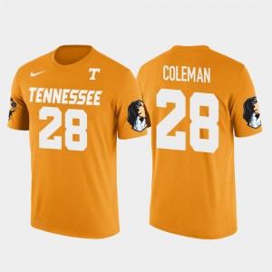 Tennessee Volunteers Justin Coleman T-Shirt Future Stars #28 Seattle Seahawks Football Orange Mens