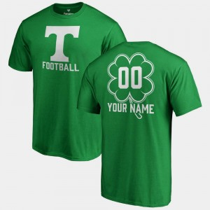 Tennessee Volunteers Customized T-Shirt Fanatics Big & Tall Dubliner Kelly Green #00 St. Patrick's Day For Men's