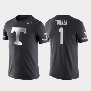 Tennessee Volunteers Lamonte Turner T-Shirt College Basketball Performance Anthracite Men's Travel #1