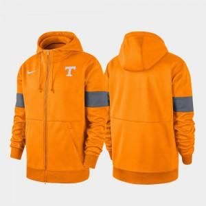 Tennessee Volunteers Hoodie Performance Full-Zip 2019 Sideline Therma-FIT Tenn Orange Men
