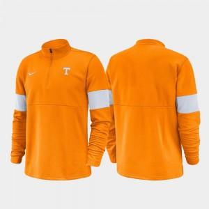 Tennessee Volunteers Jacket Tennessee Orange Half-Zip Performance 2019 Coaches Sideline For Men's
