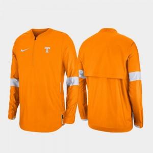 Tennessee Volunteers Jacket Tennessee Orange Mens Quarter-Zip 2019 Coaches Sideline