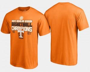 Tennessee Volunteers T-Shirt Men's 2018 SEC Champions Tennessee Orange Basketball Regular Season