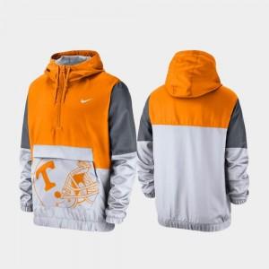 Tennessee Volunteers Jacket Men Quarter-Zip Tennessee Orange Colorblock Anorak