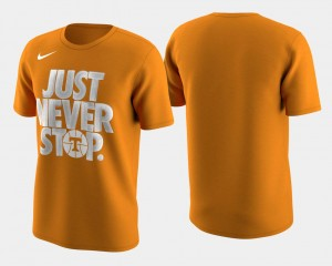 Tennessee Volunteers T-Shirt For Men March Madness Selection Sunday Tennessee Orange Basketball Tournament Just Never Stop