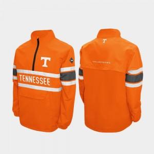 Tennessee Volunteers Jacket Quarter-Zip Tennessee Orange Alpha Windshell Pullover Mens