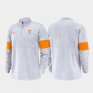 Tennessee Volunteers Jacket White Half-Zip Performance 2019 Coaches Sideline Mens