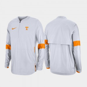 Tennessee Volunteers Jacket Quarter-Zip White For Men 2019 Coaches Sideline