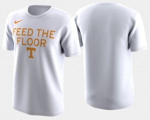 Tennessee Volunteers T-Shirt For Men's 2018 March Madness Bench Legend Performance White Basketball Tournament