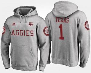 Texas A&M Aggies Hoodie #1 No.1 Gray Men