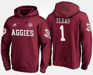 Texas A&M Aggies Hoodie No.1 #1 Maroon Men's