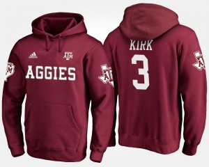 Texas A&M Aggies Christian Kirk Hoodie #3 Maroon Men's