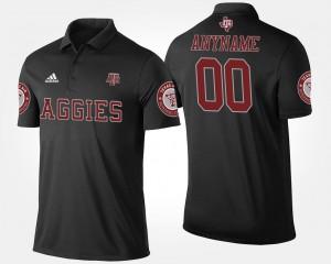 Texas A&M Aggies Customized Polo Men's Black #00