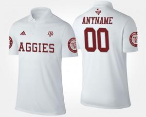 Texas A&M Aggies Custom Polo White #00 Men