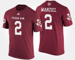 Texas A&M Aggies Johnny Manziel T-Shirt Mens Maroon #2
