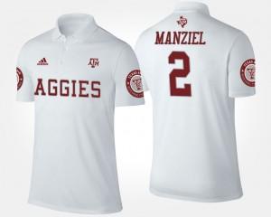 Texas A&M Aggies Johnny Manziel Polo For Men White #2