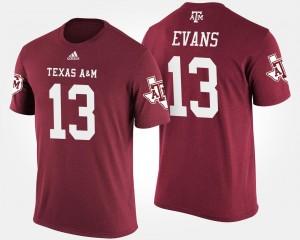 Texas A&M Aggies Mike Evans T-Shirt Men's #13 Maroon
