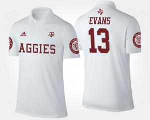 Texas A&M Aggies Mike Evans Polo Men's #13 White