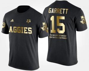 Texas A&M Aggies Myles Garrett T-Shirt Black #15 Men's Gold Limited Short Sleeve With Message