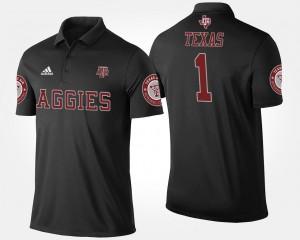 Texas A&M Aggies Polo For Men #1 Black No.1 Short Sleeve