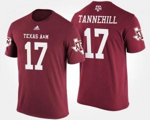 Texas A&M Aggies Ryan Tannehill T-Shirt #17 For Men Maroon