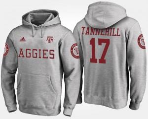 Texas A&M Aggies Ryan Tannehill Hoodie Gray #17 Men