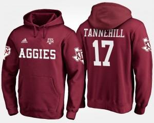 Texas A&M Aggies Ryan Tannehill Hoodie #17 Men Maroon