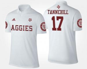 Texas A&M Aggies Ryan Tannehill Polo White Mens #17