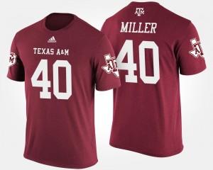 Texas A&M Aggies Von Miller T-Shirt Men's #40 Maroon