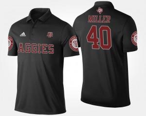 Texas A&M Aggies Von Miller Polo Black #40 Men's