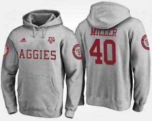 Texas A&M Aggies Von Miller Hoodie #40 Men Gray