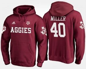 Texas A&M Aggies Von Miller Hoodie Maroon Men's #40