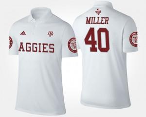 Texas A&M Aggies Von Miller Polo Men's White #40