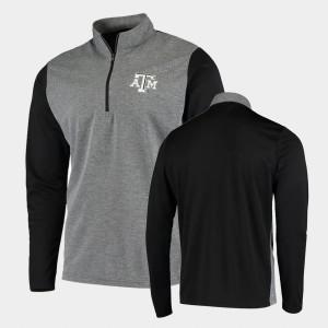 Texas A&M Aggies Jacket Black For Men College UPF Quarter-Zip