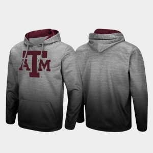 Texas A&M Aggies Hoodie Pullover Sitwell Sublimated Mens Heathered Gray