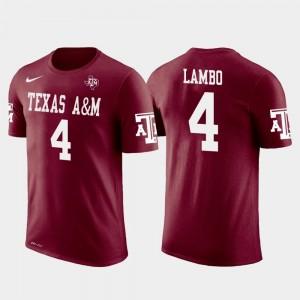 Texas A&M Aggies Josh Lambo T-Shirt Future Stars #4 Jacksonville Jaguars Football Crimson Men