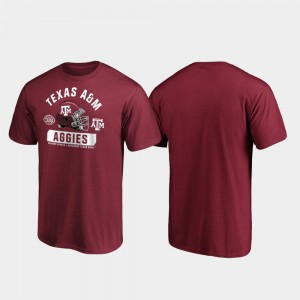 Texas A&M Aggies T-Shirt 2019 Texas Bowl Bound Men's Spike Maroon