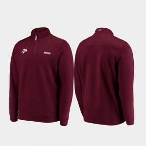 Texas A&M Aggies Jacket Maroon Shep Shirt Men's Quarter-Zip