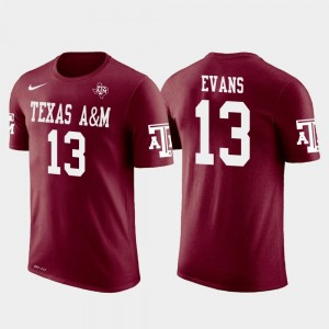Texas A&M Aggies Mike Evans T-Shirt Mens #13 Tampa Bay Buccaneers Football Crimson Future Stars