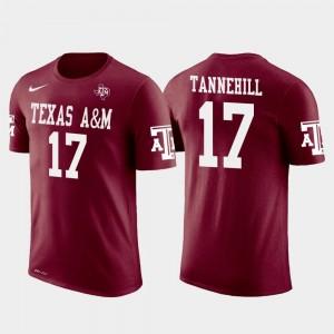 Texas A&M Aggies Ryan Tannehill T-Shirt Men Future Stars #17 Miami Dolphins Football Crimson