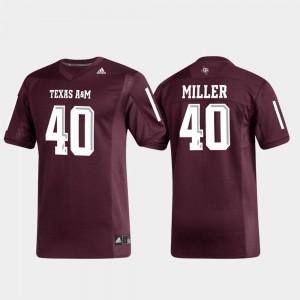 Texas A&M Aggies Von Miller Jersey Replica For Men's Alumni Football #40 Maroon
