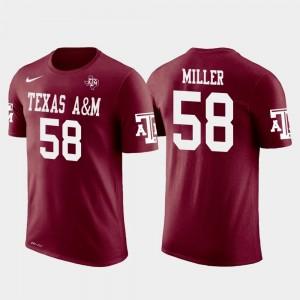Texas A&M Aggies Von Miller T-Shirt Future Stars Mens Crimson #58 Denver Broncos Football