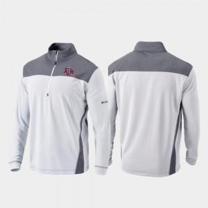Texas A&M Aggies Jacket Omni-Wick Standard Quarter-Zip Pullover White Mens