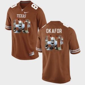 Texas Longhorns Alex Okafor Jersey Pictorial Fashion Brunt Orange #80 Mens