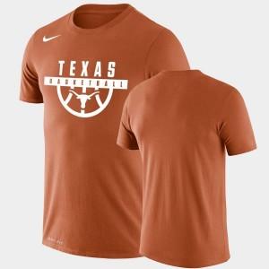 Texas Longhorns T-Shirt Drop Legend For Men Performance Basketball Orange