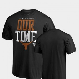 Texas Longhorns T-Shirt Black 2019 Sugar Bowl Bound Counter Big & Tall Men